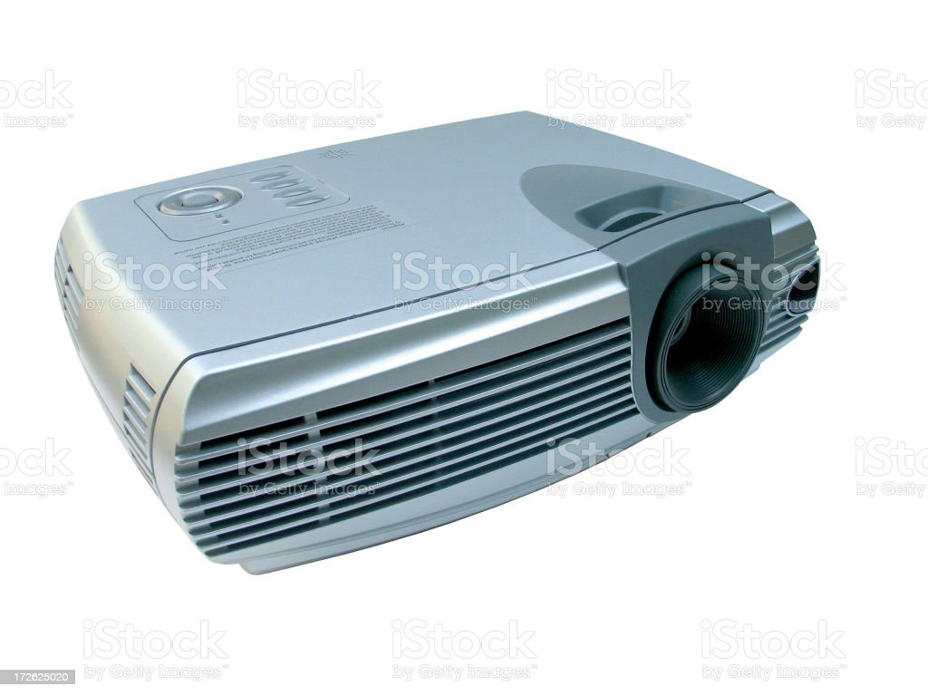 Video Projector in Full View stock photo