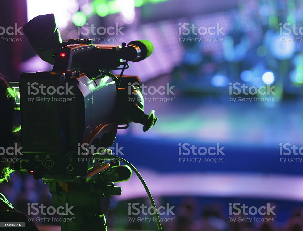 Video recording stock photo