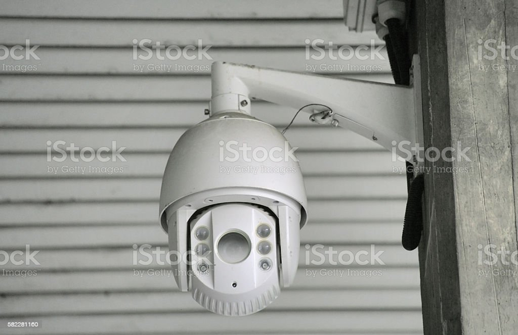 Video surveillance camera stock photo