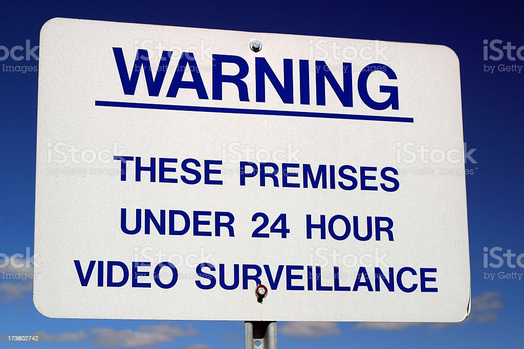Video Surveillance royalty-free stock photo