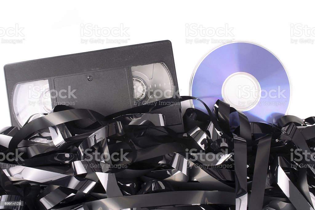 Video tape cassete to DVD royalty-free stock photo
