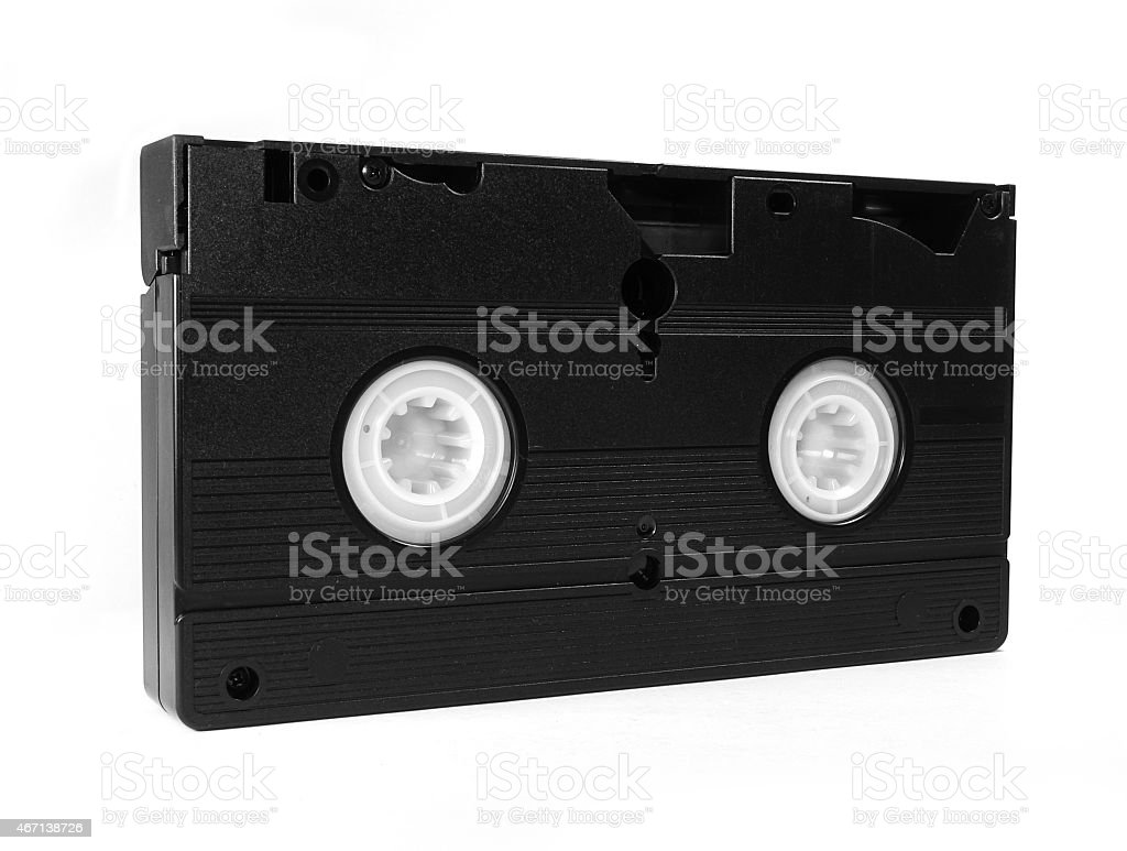 Video Tape isolated on white background stock photo