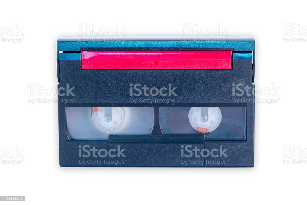 Video tape - isolated on white background stock photo