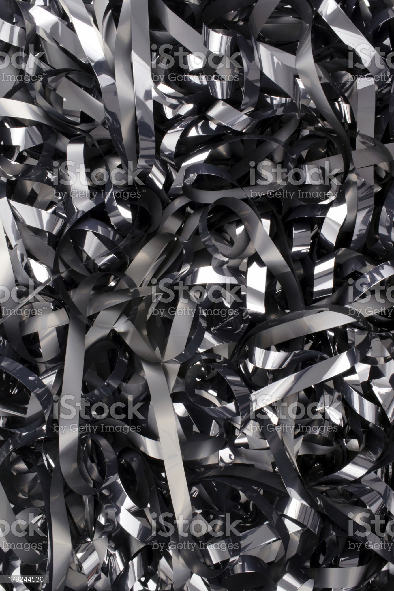 Video tape mess royalty-free stock photo