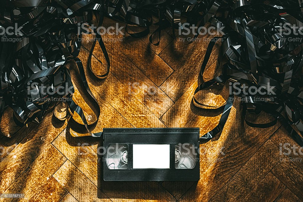Video tape stock photo