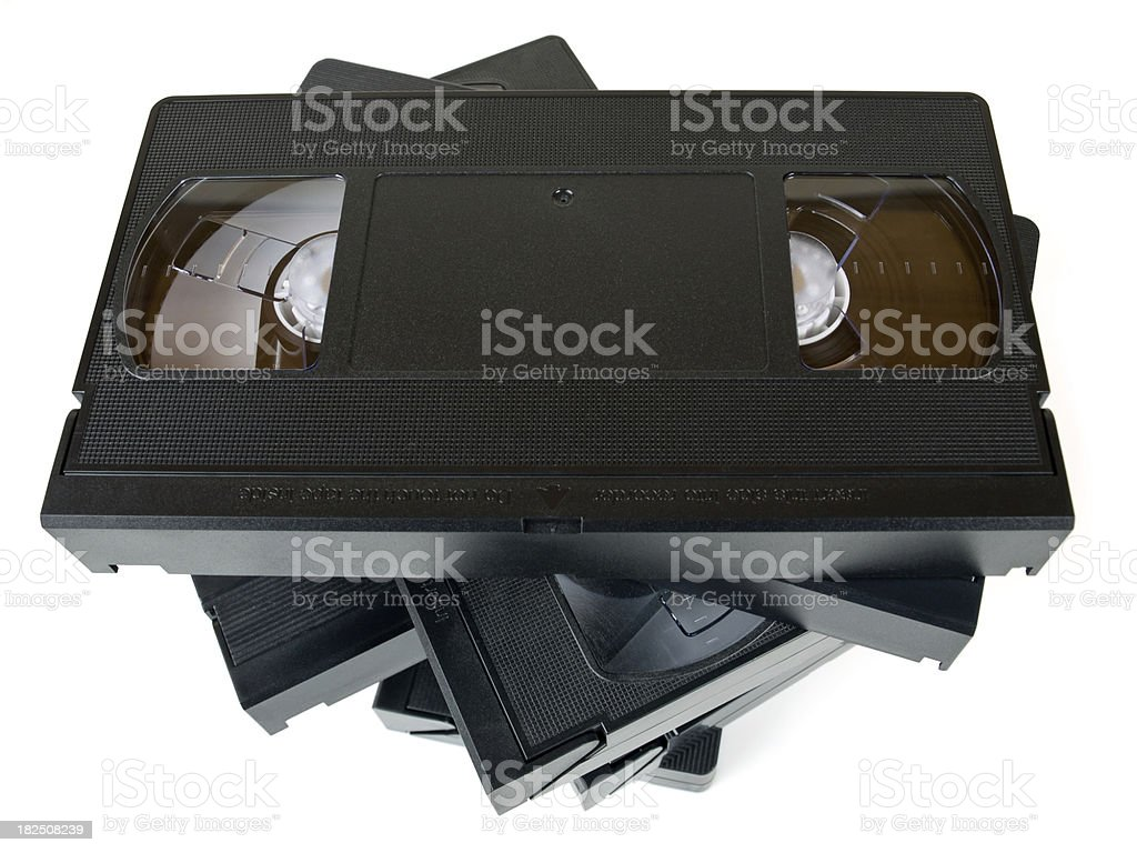 video tape w clipping path stock photo