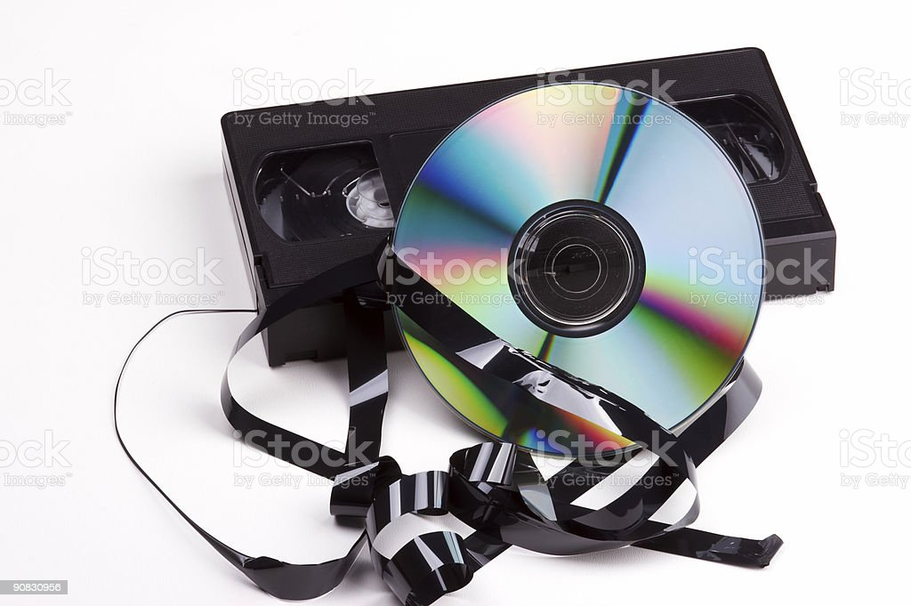 Video contra DVD royalty-free stock photo