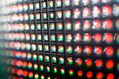 LED video wall with high saturated pattern