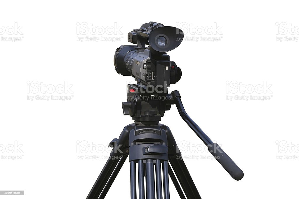 videocamera on mount isolated stock photo