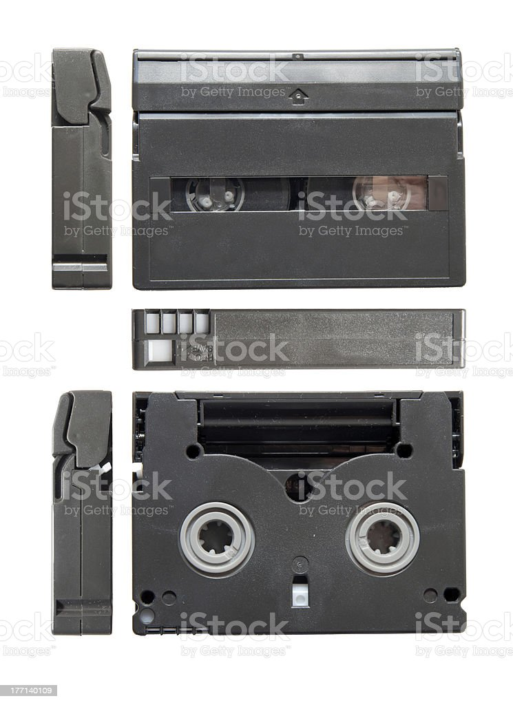 Videocassette standard miniDV stock photo