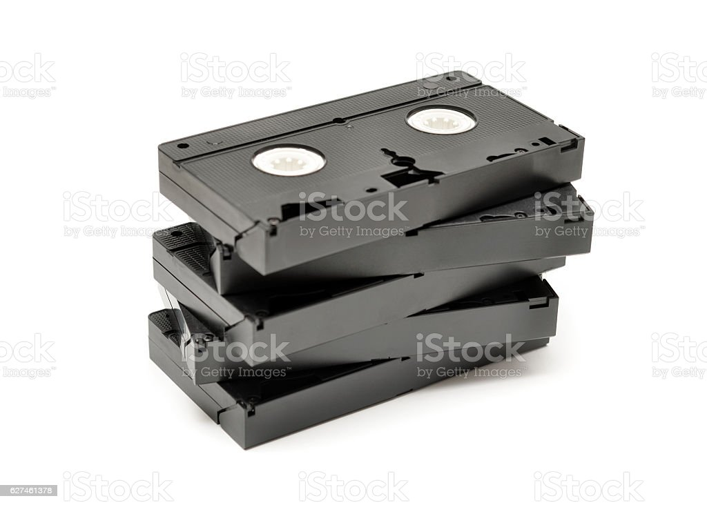 Videocassette Tapes stock photo