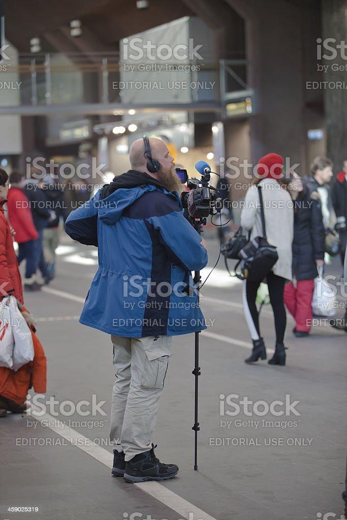 Videographer. stock photo