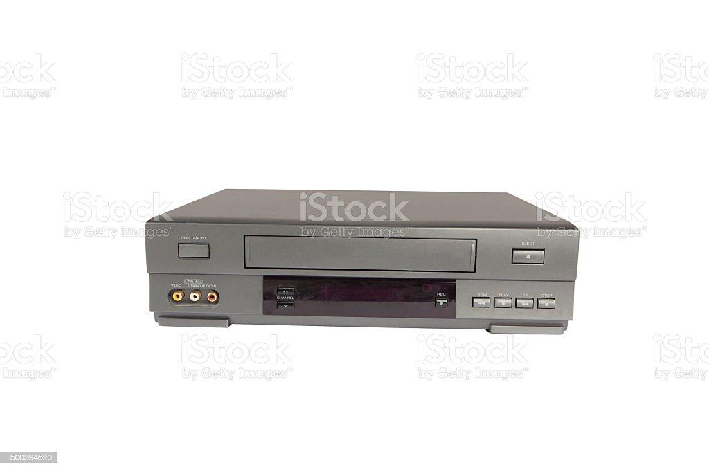 videorecorder isolated on white background stock photo