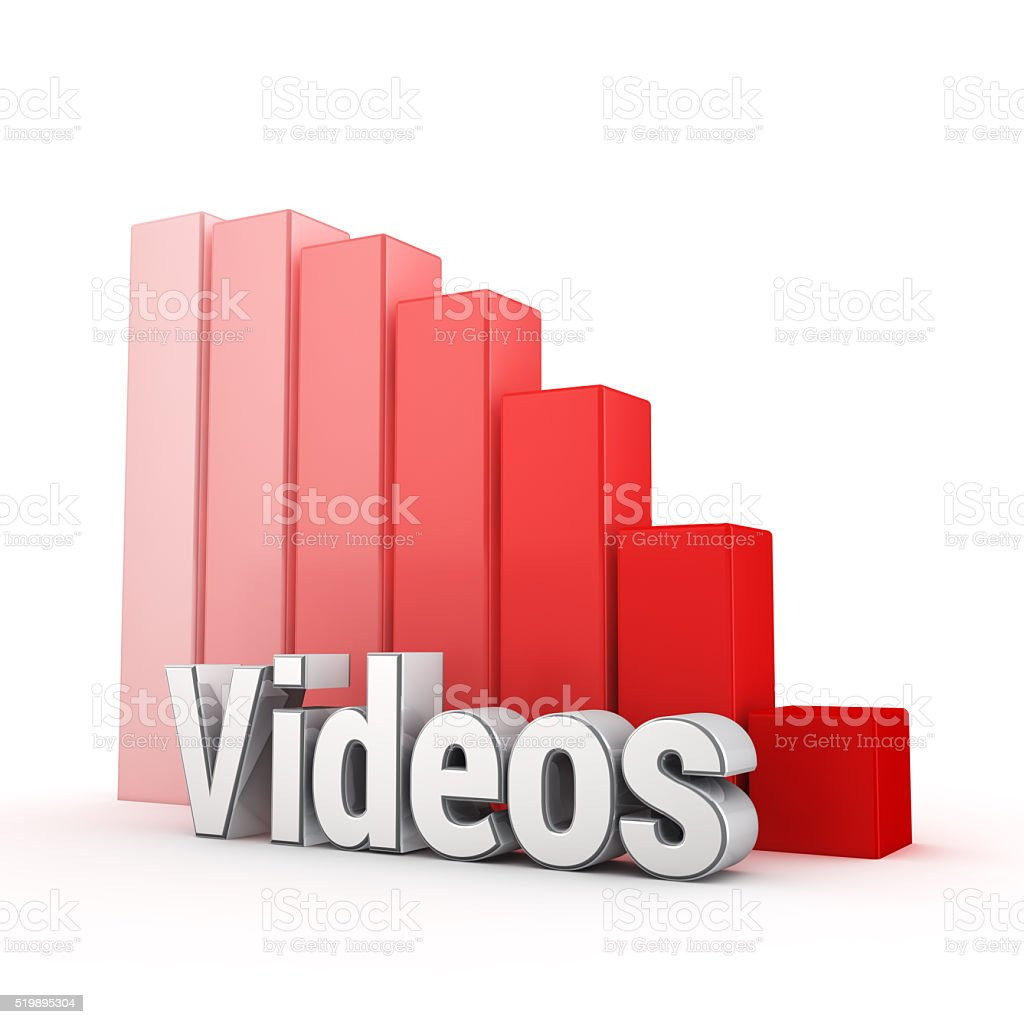Videos trend down stock photo