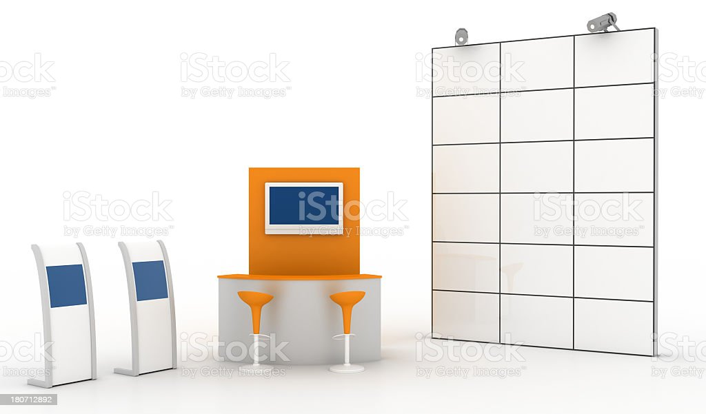 Videowall and retail royalty-free stock photo