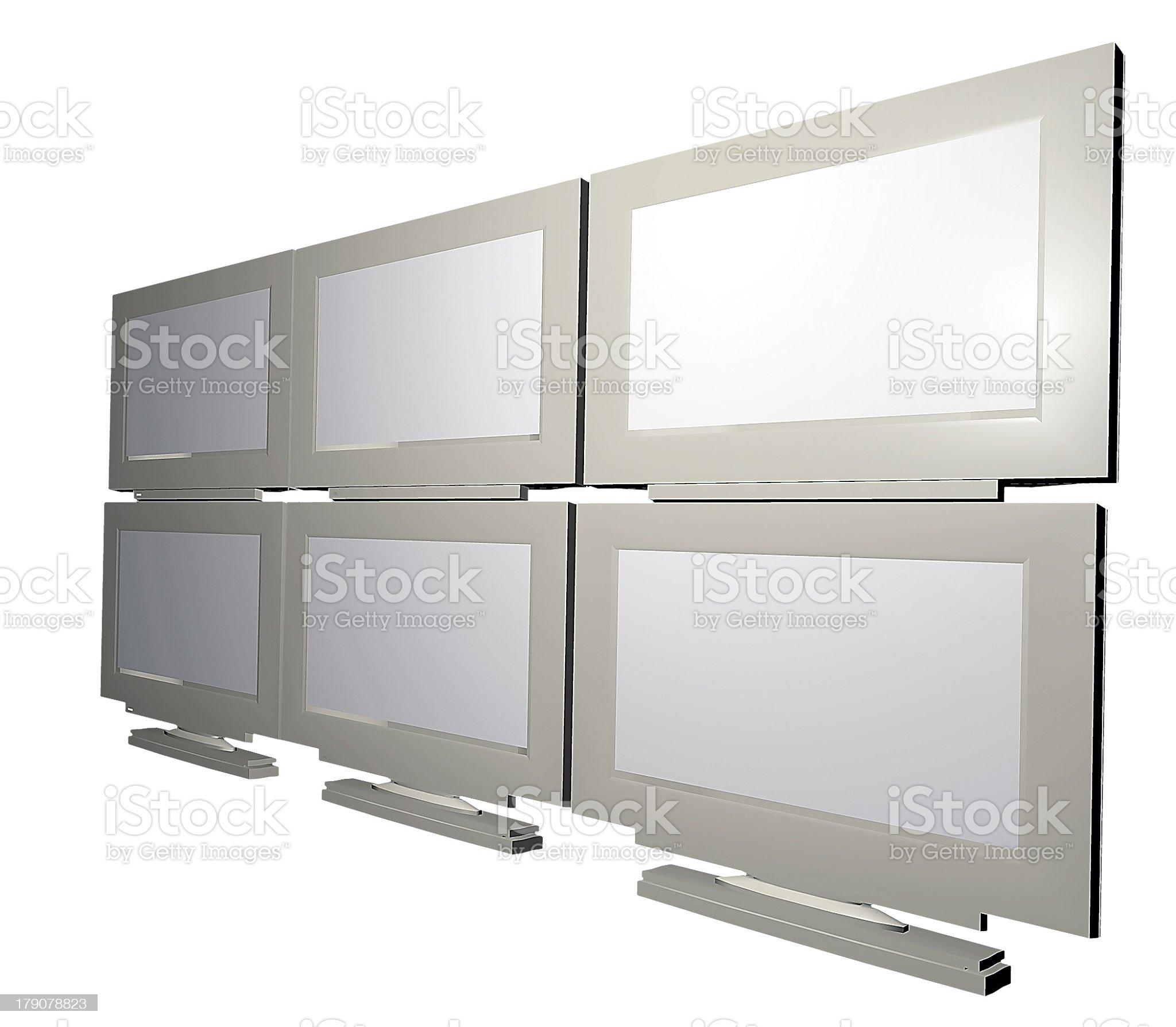 Videowall Right royalty-free stock photo