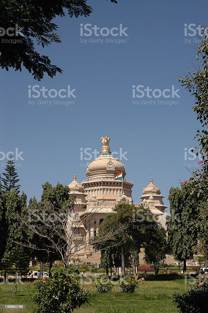 vidhana soudha, bangalore, royalty-free stock photo