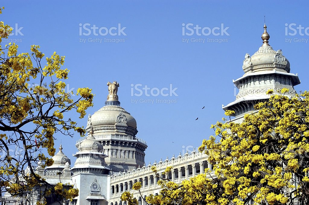 Vidhana Soudha, Bangalore royalty-free stock photo