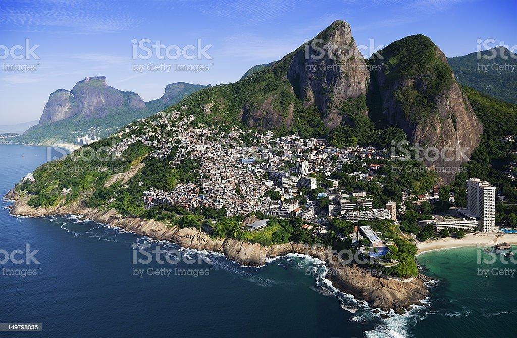 Vidigal Favela in Rio de Janeiro stock photo