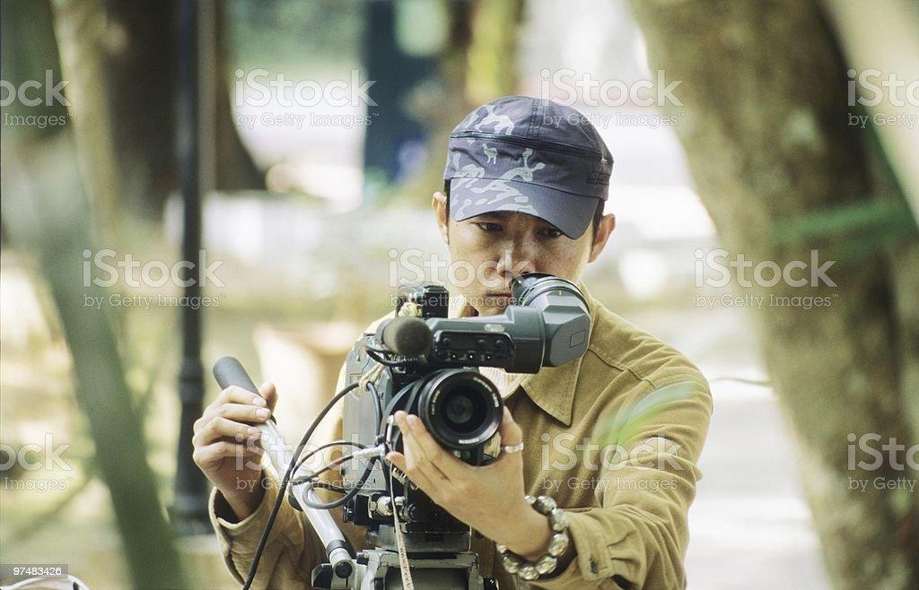 Vidographer stock photo