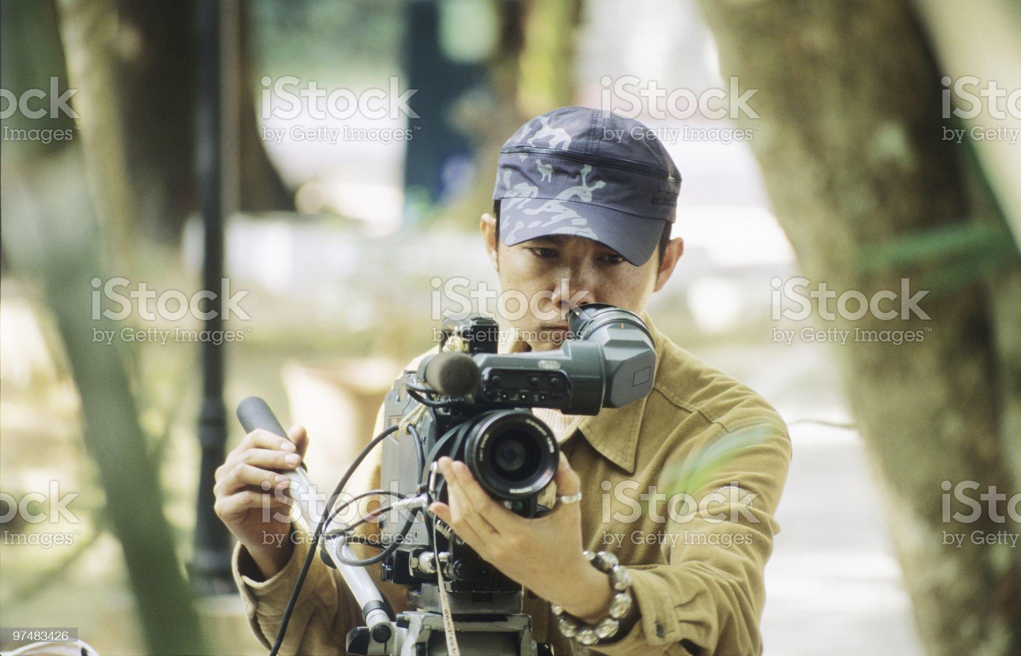 Vidographer royalty-free stock photo