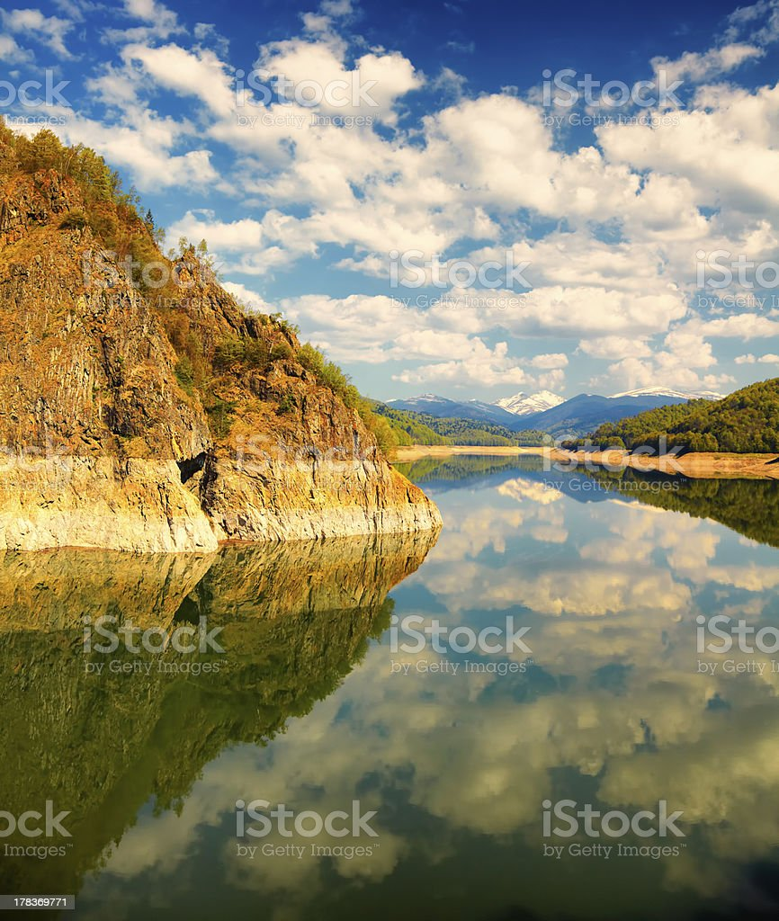 Vidraru lake stock photo