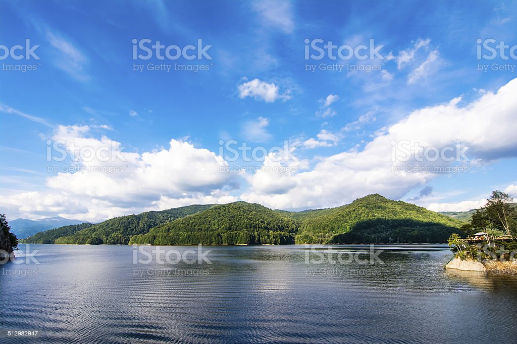 Vidraru lake, Romania stock photo