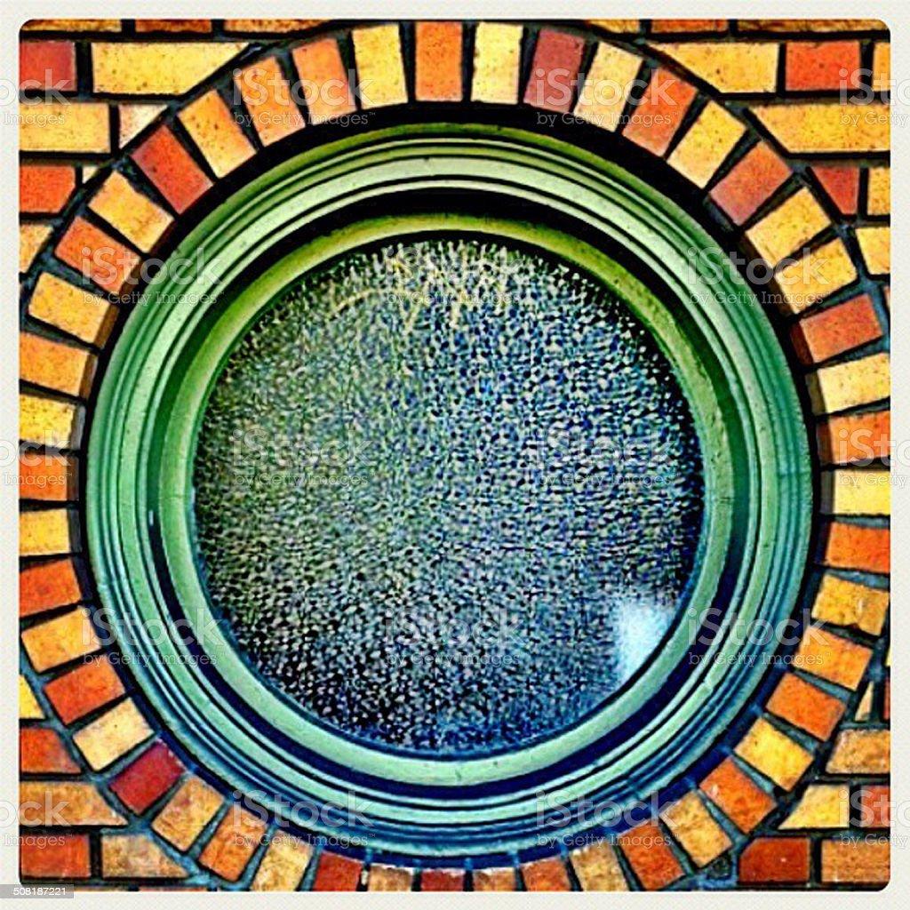 Vidro redondo verde stock photo