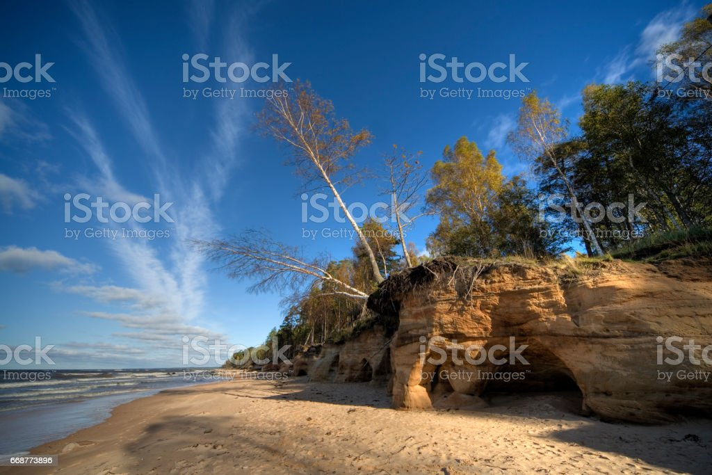 Vidzeme Stony Seashore stock photo