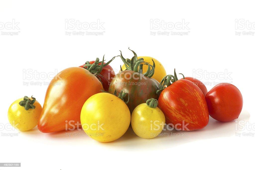 Viele exotische Tomaten stock photo