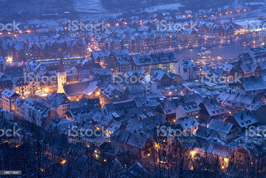 Vielha town overview royalty-free stock photo
