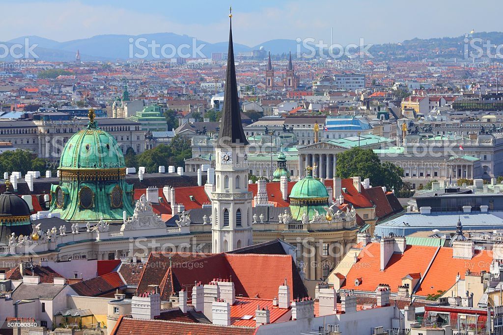 Vienna aerial view stock photo