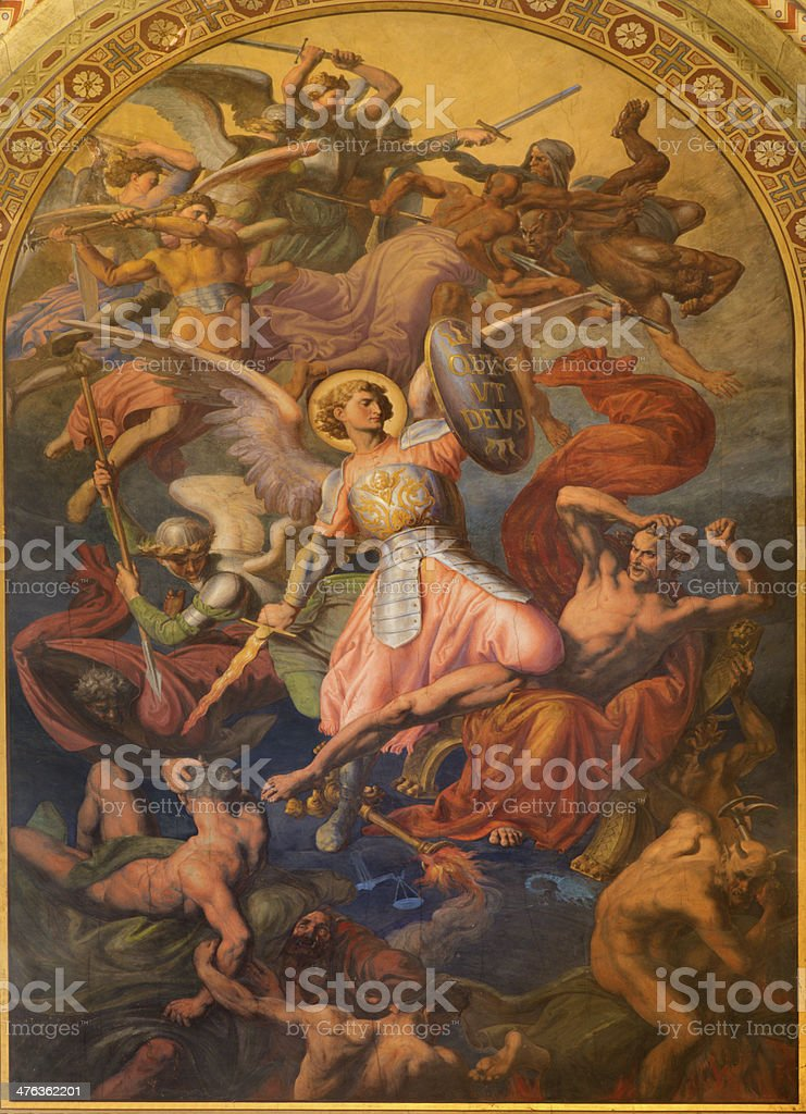 Vienna - Archangel Michael and war with the bad angels royalty-free stock photo