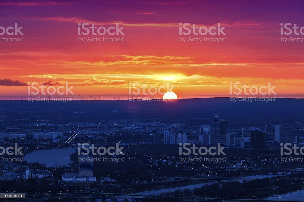 Vienna at Sunrise royalty-free stock photo