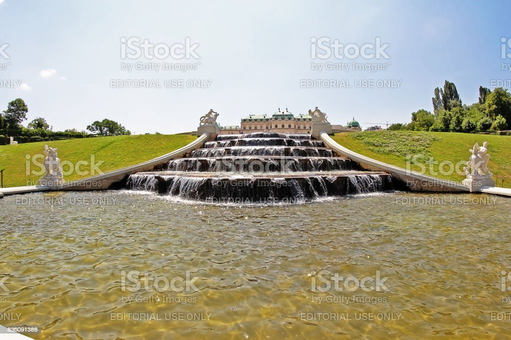 Vienna (Wien), Austria (Osterreich) - June 24, 2017 - Belvedere Gardens stock photo
