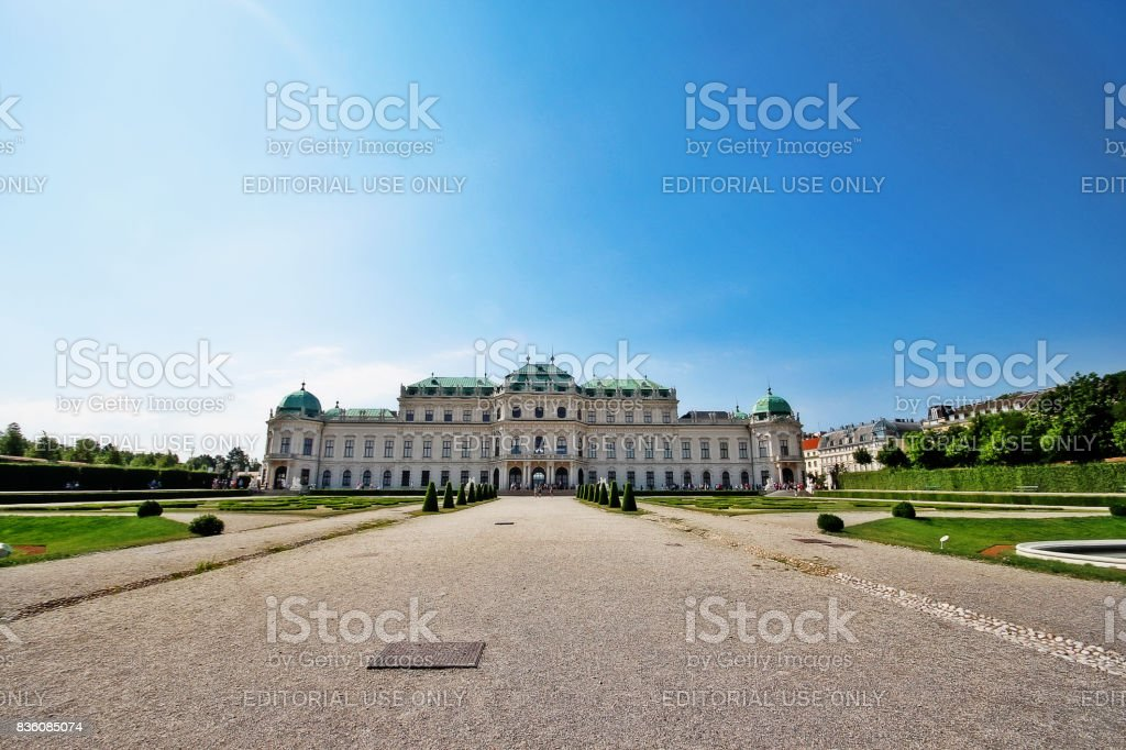 Vienna (Wien), Austria (Osterreich) - June 24, 2017 - Upper Belvedere of historic building complex consist of two Baroque palaces (the Upper and Lower Belvedere) in a Baroque park, it was built as a summer residence for Prince Eugene of Savoy stock photo