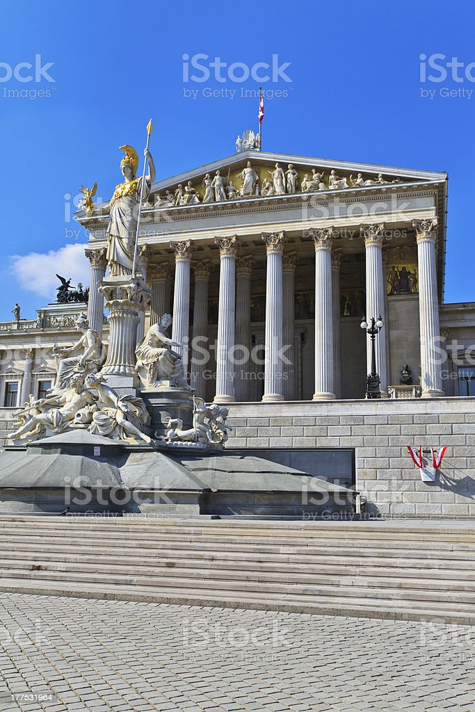Vienna - Austrian Parliament Building royalty-free stock photo