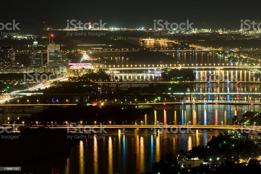 Vienna by night royalty-free stock photo