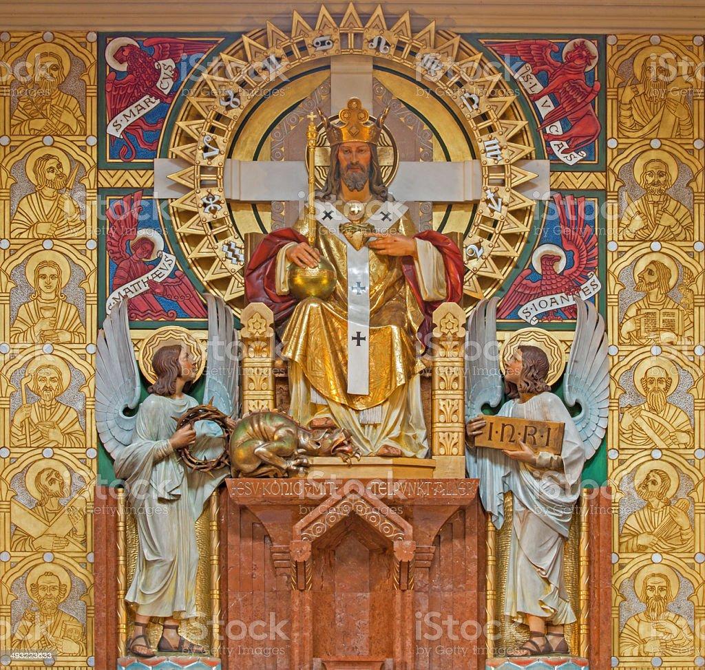 Vienna - Christ the King statue stock photo