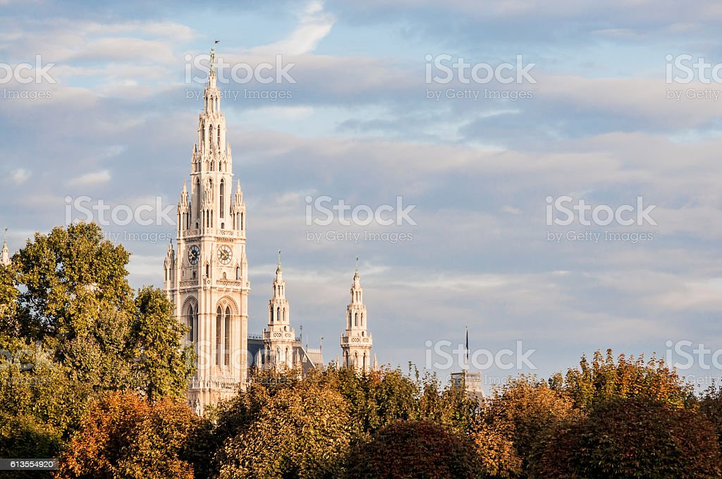 Vienna City Hall, Austria stock photo