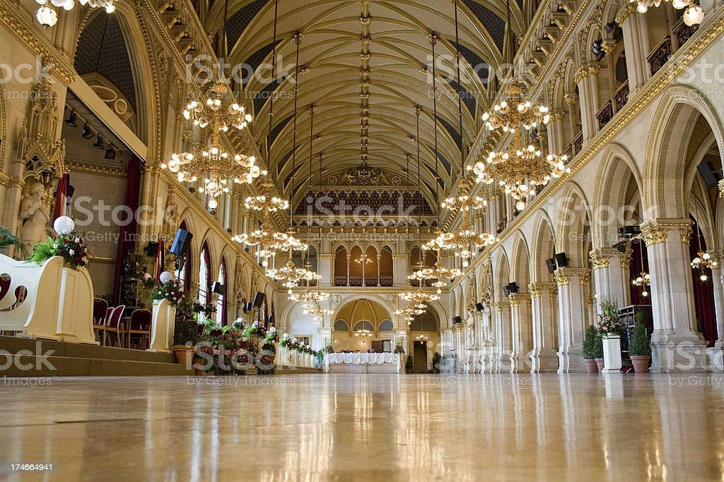 Vienna city hall stock photo