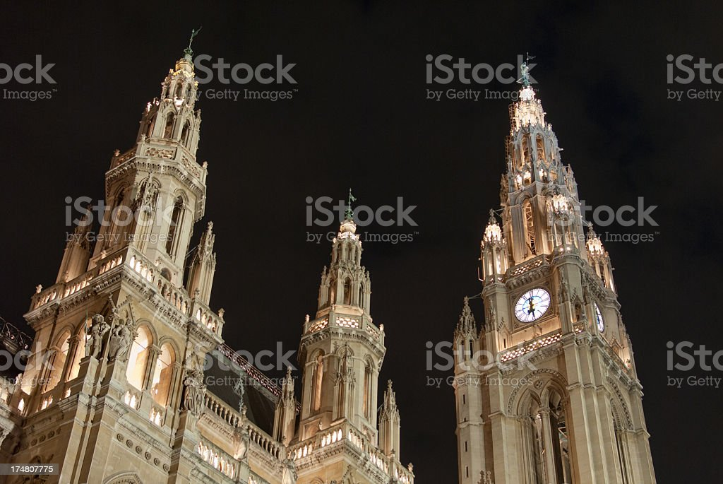 Vienna city hall royalty-free stock photo