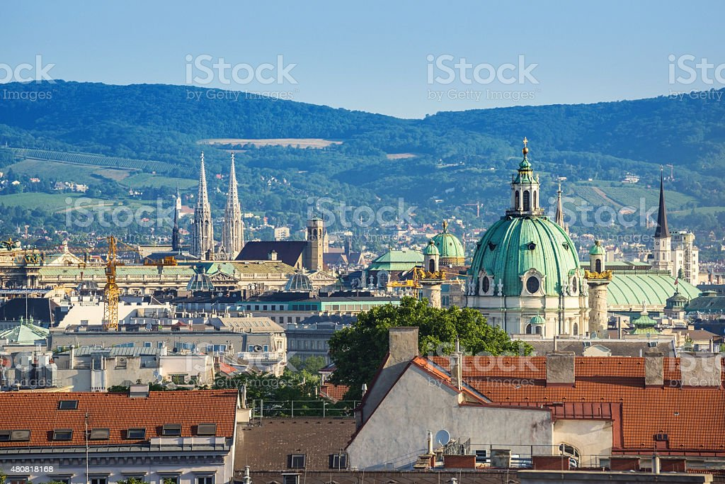 Vienna city skyline - Austria stock photo