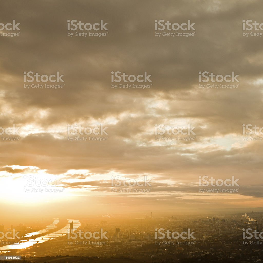 Vienna Cityscape, Aerial View royalty-free stock photo