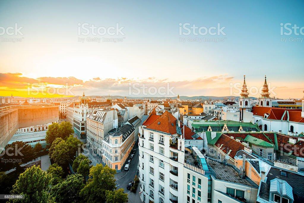 Vienna cityscape in Austria stock photo
