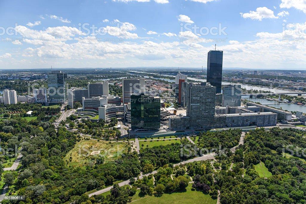 Vienna Donau City stock photo