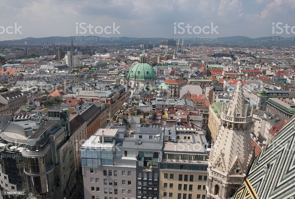 Vienna Downtown from Above stock photo