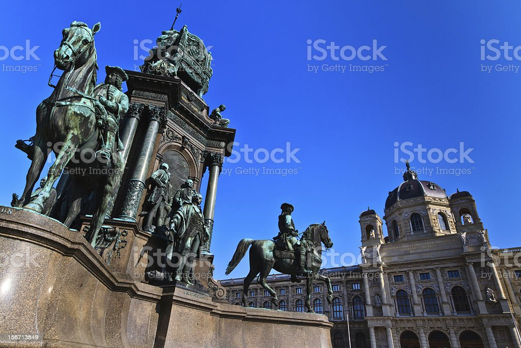 Vienna - Empress Maria Theresia Monument royalty-free stock photo