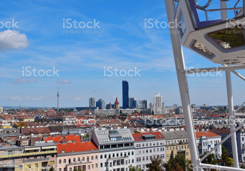 Vienna from Prater stock photo