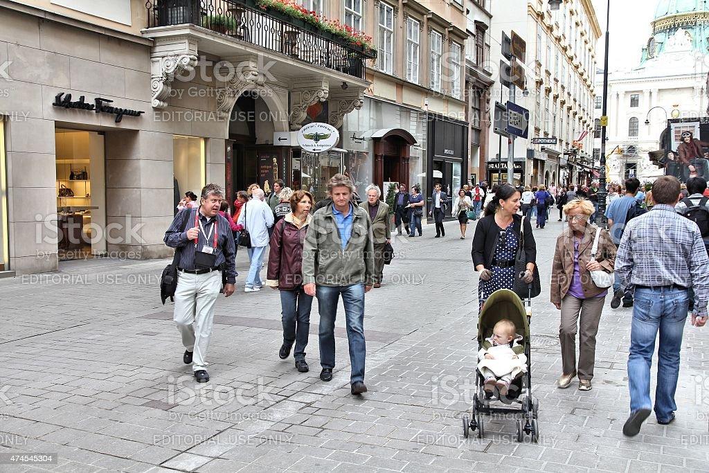 Vienna - Graben stock photo